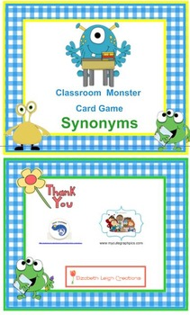 Classroom Monster Synonym Card Game