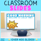 Classroom Morning Meeting Editable Slides | All Grades and