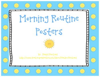 Classroom Morning Routine Cards