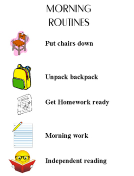 Classroom Morning Routines