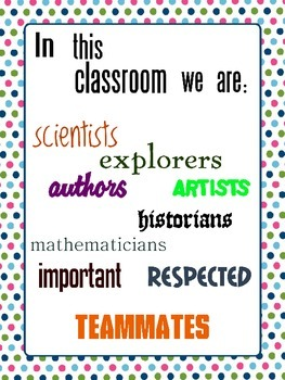 Classroom Motivation Poster