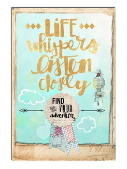 """Classroom Motivational Graphic - """"Life Whispers"""""""