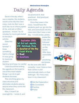 Classroom Motivational Handbok: 15 Easy Strategies for your Classroom
