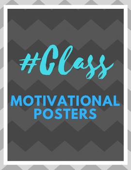 Classroom Motivational Hashtag Printable Posters