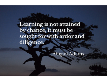 Classroom Motivational Poster, Abigail Adams