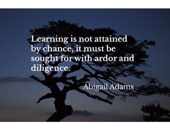 Classroom Motivational Poster, Abigail Adams