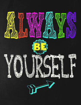 Classroom Motivational Poster - Chalkboard Theme - Always Be Yourself