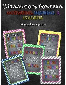 Classroom Motivational Poster Pack
