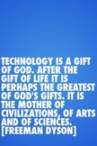 Classroom Motivational Poster: Technology Gift of God by F