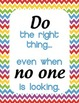 Classroom Motivational Signs - Rainbow Chevron