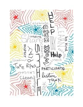 Classroom Motivational Words Poster