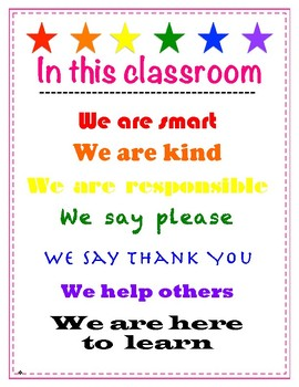 Classroom Motto Poster