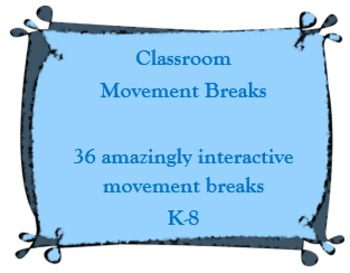 K-8 Classroom Movement Breaks 2-3 Minutes