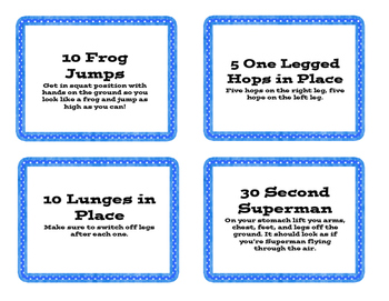 Classroom Movement Cards