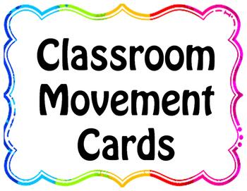 Classroom Movement Cards