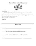 Classroom Movie Time Permission Slip