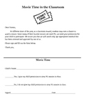 Classroom Movie Time Permission Slip