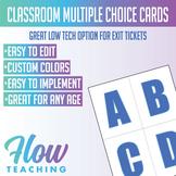 Classroom Multiple Choice Cards