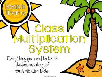 Classroom Multiplication System (Beach)