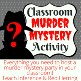 Classroom Murder Mystery Activity - Virtual Option Available