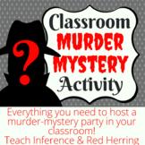 Classroom Murder Mystery Activity - Virtual Option Available