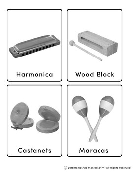 Classroom Musical Instrument Matching Cards