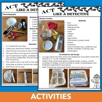 Classroom Mystery Simulation - CSI Detective Activities and Science Labs