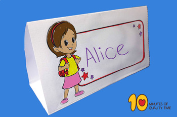 Classroom Name Cards for Girls and Boys
