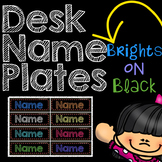 Name Tags: Brights on Black