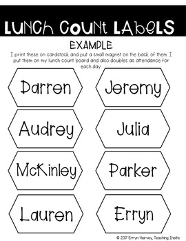 Editable Classroom Name Labels