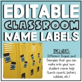 Editable Classroom Name Labels
