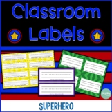 Classroom Name Tags and Labels - Superhero