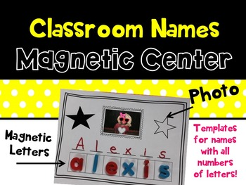 Name Station (For Magnetic Letters or Stamps)