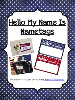 Classroom Nametag Set {Patriotic Theme}