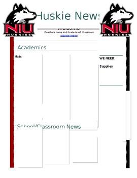 Classroom Newletter