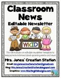 Classroom News {Editable Newsletter}