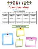 Classroom News Letter