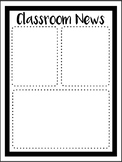 Classroom News Template