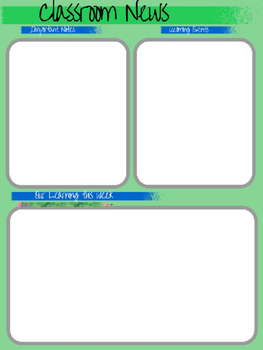 Classroom News Templates!  Easy to use!