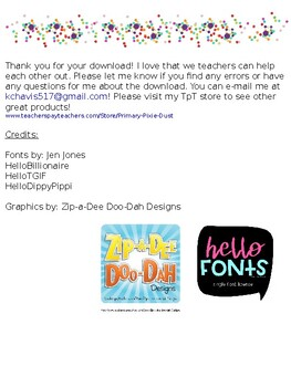 Classroom News- Weekly News- First Grade- Editable