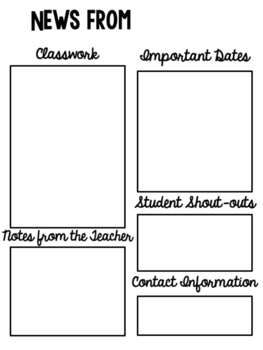 Classroom Newsletter