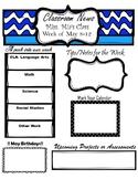 Classroom Newsletter- Editable