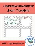 Classroom Newsletter - Basic