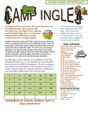 Classroom Newsletter Camp Theme