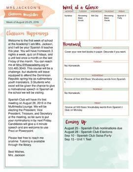 Classroom Newsletter | Classroom Management | Teacher Tool