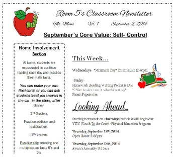 Classroom Newsletter {Customizable}