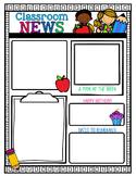 Classroom Newsletter Template {editable}