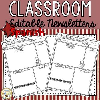 Classroom Newsletter **EDITABLE**