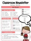 Classroom Newsletter Template - EDITABLE (FREEBIE)