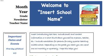 Classroom Newsletter EDITABLE